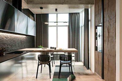 "Дизайн интерьера двухкомнатной квартиры в стиле лофт ""Cactus"" by ZOOI - фото 2"