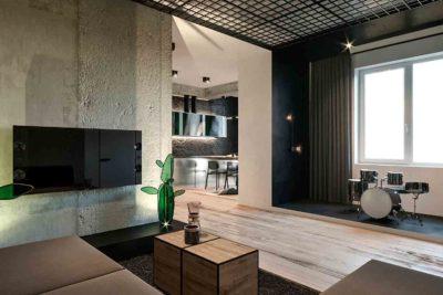 "Дизайн интерьера двухкомнатной квартиры в стиле лофт ""Cactus"" by ZOOI - фото 5"