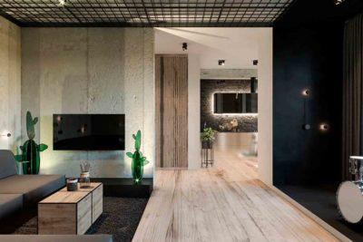 "Дизайн интерьера двухкомнатной квартиры в стиле лофт ""Cactus"" by ZOOI - фото 6"