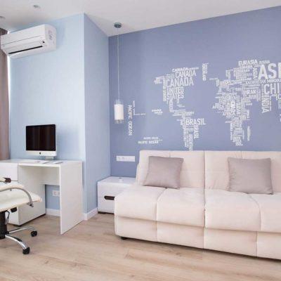 Дизайн интерьера однокомнатной квартиры «Легкий лофт в ЖК Лыбидь-2» by Leviartes