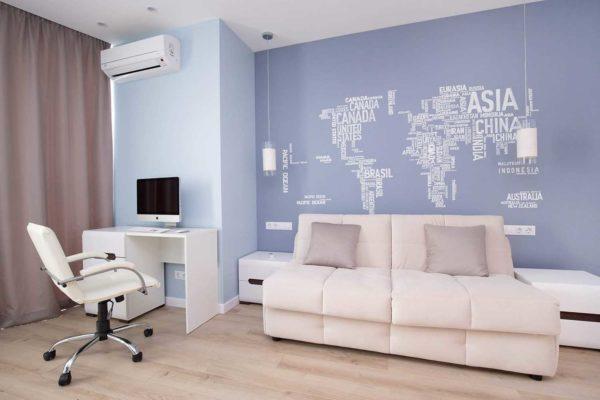 Дизайн интерьера однокомнатной квартиры «Легкий лофт в ЖК Лыбидь-2» by Leviartes - фото 1
