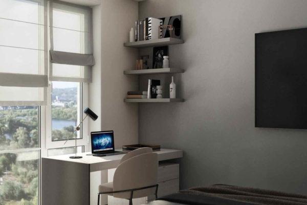 """Дизайн интерьера трехкомнатной квартиры """"Modern in ЖК Новая Англия"""" by Fialkovskiy - фото 18"""