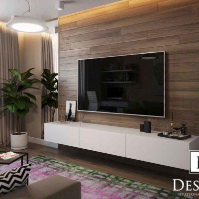 Дизайн интерьера однокомнатной квартиры «Минимализм на Подоле» by Бродская