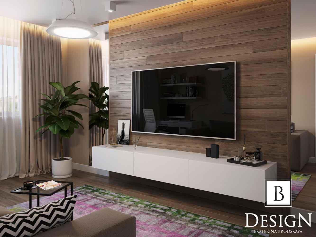 design project a flat in the podol by brodskaya 01 - Дизайн интерьера однокомнатной квартиры «Минимализм на Подоле» by Бродская