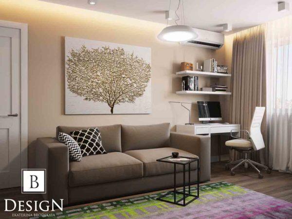 Дизайн интерьера однокомнатной квартиры «Минимализм на Подоле» by Бродская - фото 2