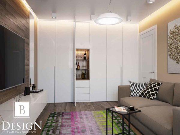Дизайн интерьера однокомнатной квартиры «Минимализм на Подоле» by Бродская - фото 3