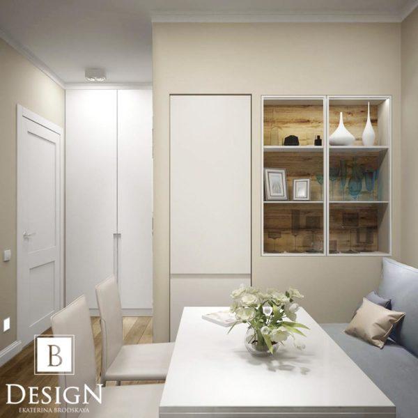 Дизайн интерьера однокомнатной квартиры «Минимализм на Подоле» by Бродская - фото 7
