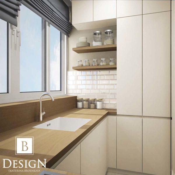 Дизайн интерьера однокомнатной квартиры «Минимализм на Подоле» by Бродская - фото 9