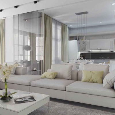 Дизайн интерьера четырехкомнатной квартиры в дуете классики и модерна by Elitehouse