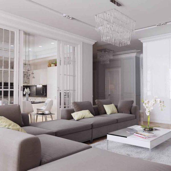 Дизайн интерьера четырехкомнатной квартиры в дуете классики и модерна by Elitehouse - фото 2