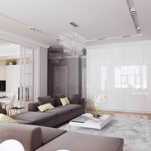 Дизайн интерьера четырехкомнатной квартиры в дуете классики и модерна by Elitehouse - фото 3
