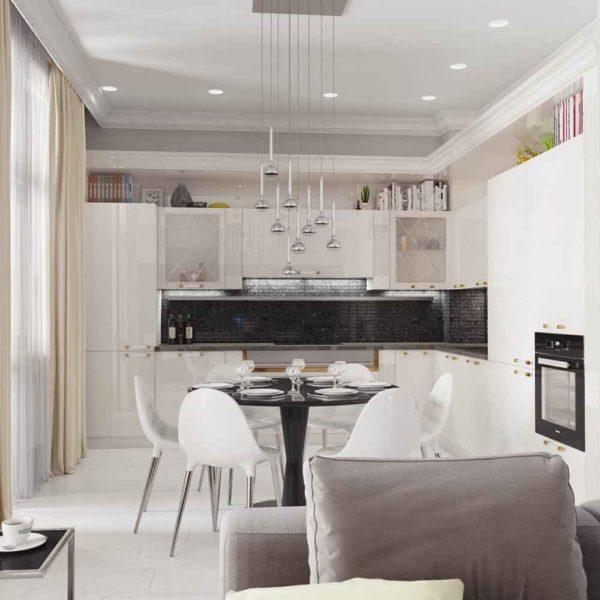 Дизайн интерьера четырехкомнатной квартиры в дуете классики и модерна by Elitehouse - фото 5