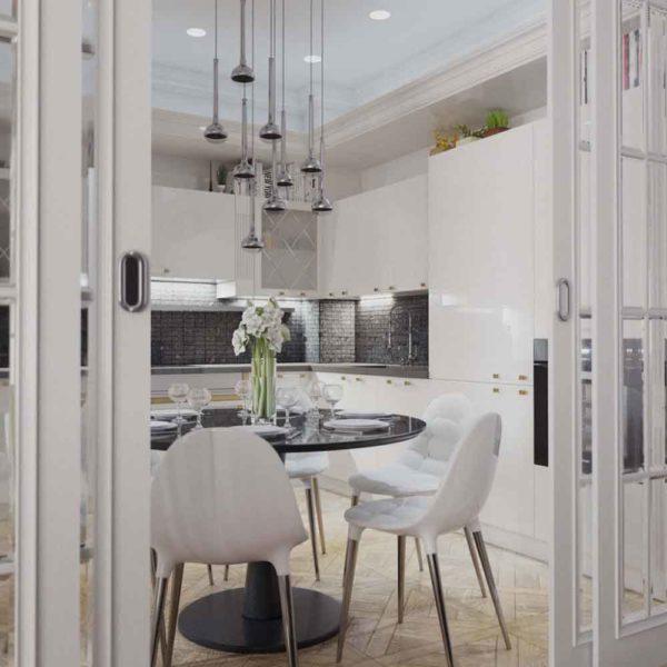 Дизайн интерьера четырехкомнатной квартиры в дуете классики и модерна by Elitehouse - фото 6
