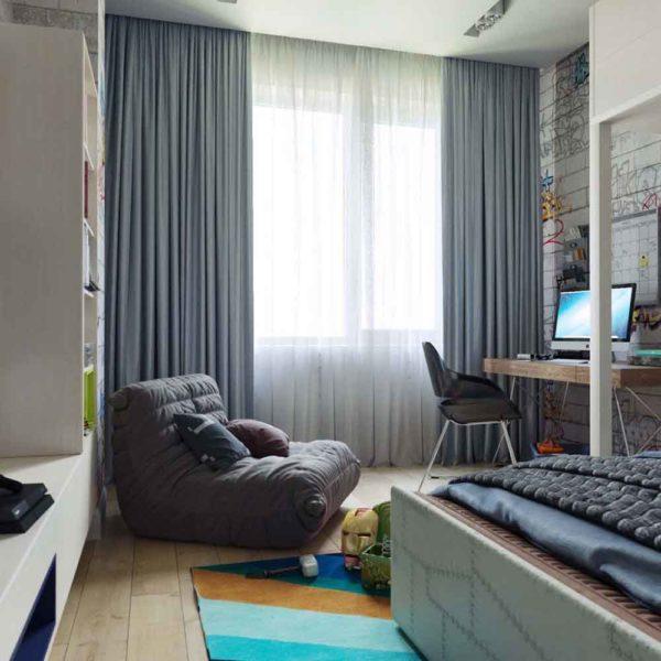 Дизайн интерьера четырехкомнатной квартиры в дуете классики и модерна by Elitehouse - фото 13