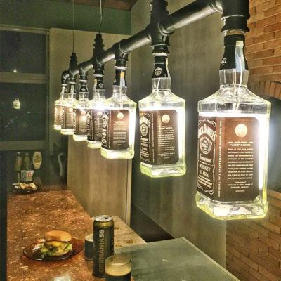 Бутылки в виде светильников