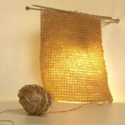 Дизайнерский светильник в виде вязания