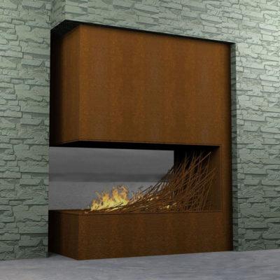 Деревяный камин