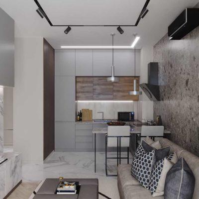 Дизайн интерьера 1-комн.кв. «Современность в ЖК Henesi House»  by NS INTERIOR DESIGN