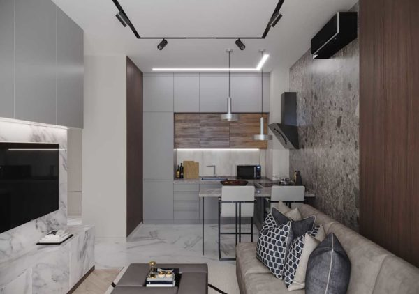 Дизайн интерьера 1-комн.кв. «Современность в ЖК Henesi House»  by NS INTERIOR DESIGN - фото 1