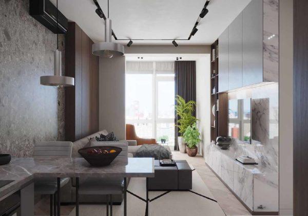 Дизайн интерьера 1-комн.кв. «Современность в ЖК Henesi House»  by NS INTERIOR DESIGN - фото 3