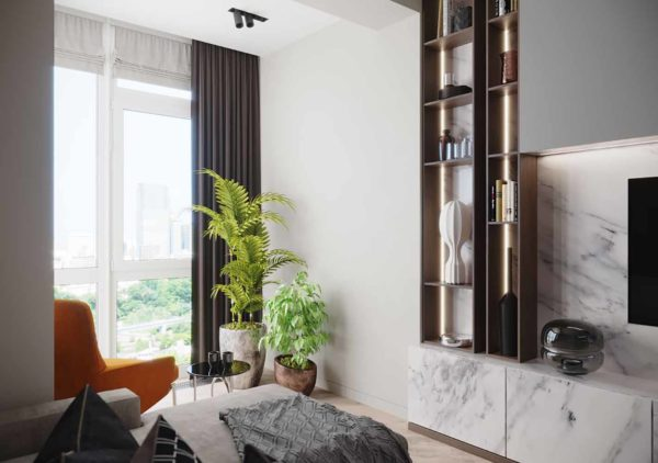 Дизайн интерьера 1-комн.кв. «Современность в ЖК Henesi House»  by NS INTERIOR DESIGN - фото 6