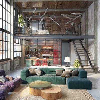 Высокие потолки в интерьере квартиры или дома - фото 8