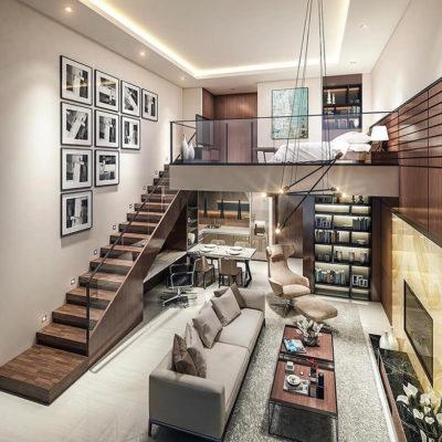 Высокие потолки в интерьере квартиры или дома - фото 22