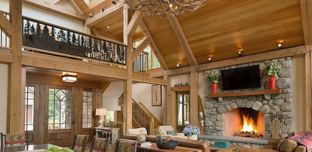 Высокие потолки в доме