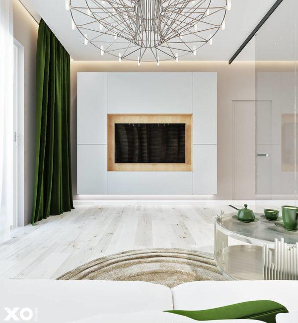 "Дизайн интерьера двухкомнатной квартиры ""ЖК SPAS SKY минимализм"" by XO Design - фото 4"