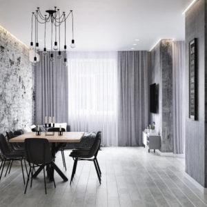 """Дизайн интерьера двухкомнатной квартиры """"Apartment Loft"""" by Fialkovskiy"""