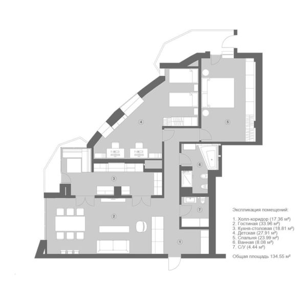 """Дизайн интерьера трехкомнатной квартиры """"Париж в каждом"""" by Materia 174 - фото 14"""