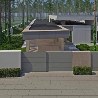 """3D визуализация ландшафта """"Минимализм в лесной зоне Плюты"""" by ElenaZhukova landscape studio"""