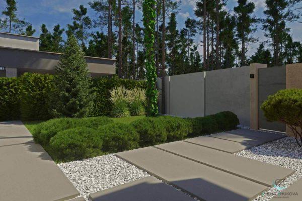 """3D визуализация ландшафта """"Минимализм в лесной зоне Плюты"""" by ElenaZhukova landscape studio - фото 9"""