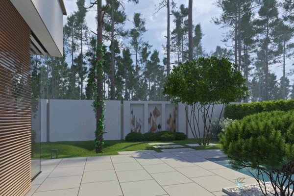 """3D визуализация ландшафта """"Минимализм в лесной зоне Плюты"""" by ElenaZhukova landscape studio - фото 4"""