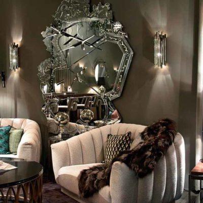 Зеркала в дизайне интерьера – виды, формы, идеи - фото 19