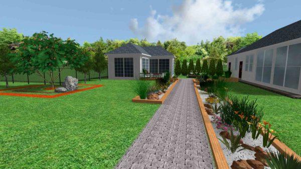 3D визуализация сада в стиле модерн by Hedera - фото 1