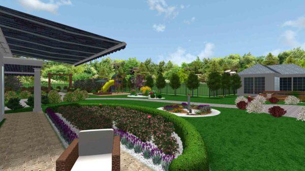 3D визуализация сада в стиле модерн by Hedera - фото 2