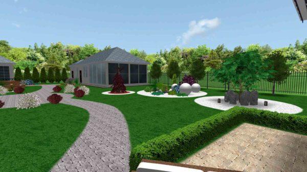 3D визуализация сада в стиле модерн by Hedera - фото 3