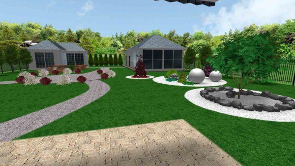 3D визуализация сада в стиле модерн by Hedera - фото 4
