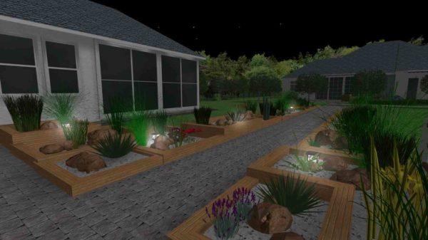 3D визуализация сада в стиле модерн by Hedera - фото 5