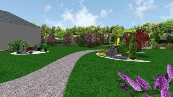 3D визуализация сада в стиле модерн by Hedera - фото 6