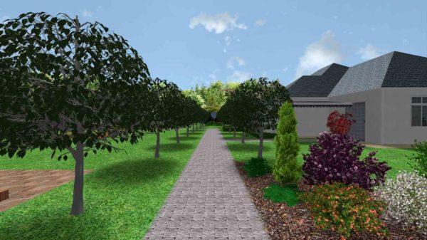 3D визуализация сада в стиле модерн by Hedera - фото 7