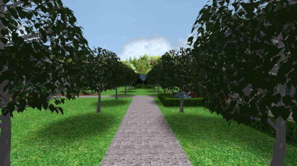 3D визуализация сада в стиле модерн by Hedera - фото 8