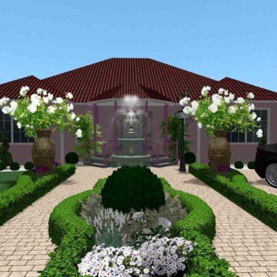 3D визуализация сада в марокканском стиле by Hedera