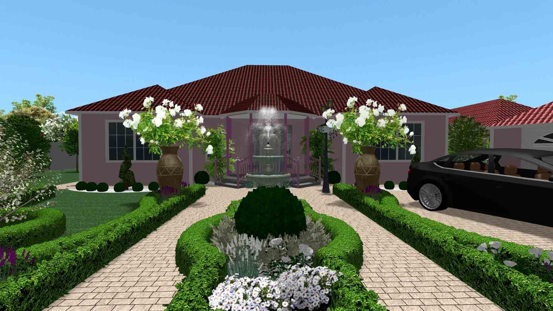 moroccan style garden by hedera 01 - 3D визуализация сада в марокканском стиле by Hedera