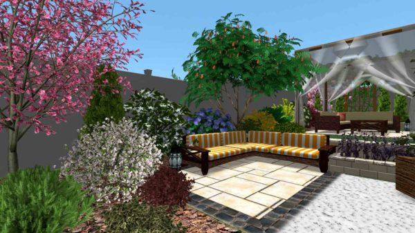 3D визуализация сада в марокканском стиле by Hedera - фото 2