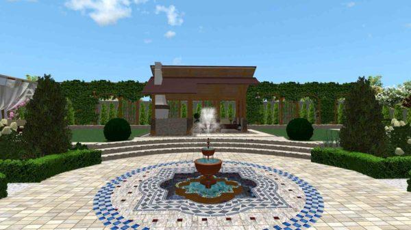 3D визуализация сада в марокканском стиле by Hedera - фото 3