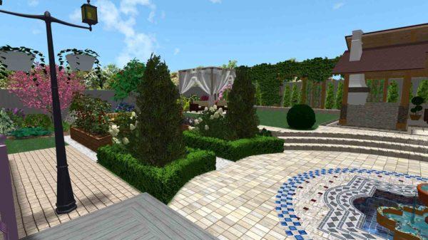 3D визуализация сада в марокканском стиле by Hedera - фото 4