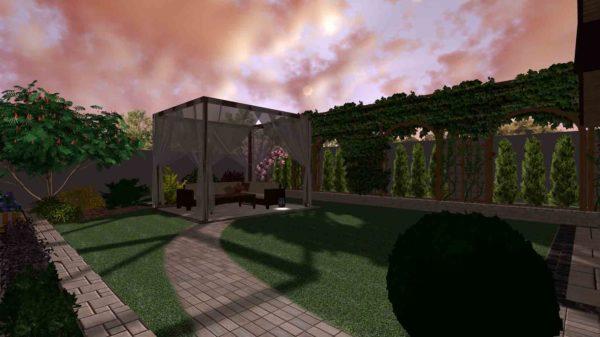 3D визуализация сада в марокканском стиле by Hedera - фото 7