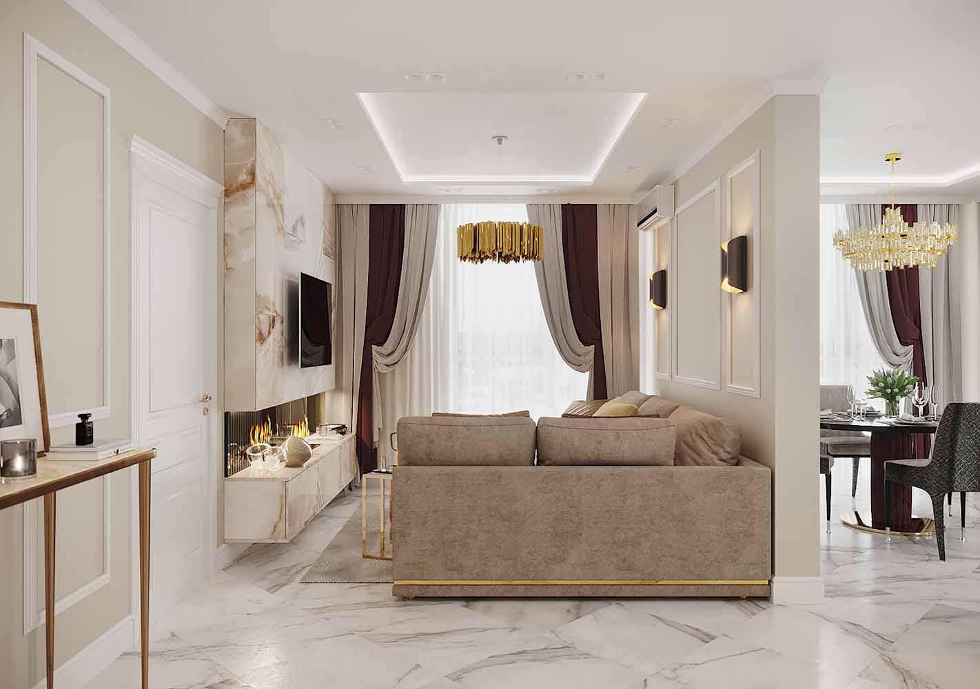 "paradise avenue by ns interior design 01 - Дизайн интерьера 2-комн.кв. ""ЖК Парадиз Авеню"" by NS INTERIOR DESIGN"